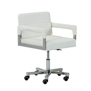 Modrest Craig Modern White Bonded Leather Office Chair