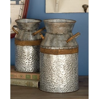 The Gray Barn Jartop Decorative Metal Milk Can