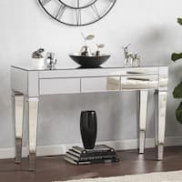 Silver Orchid Olivia Contemporary Mirrored Console Table