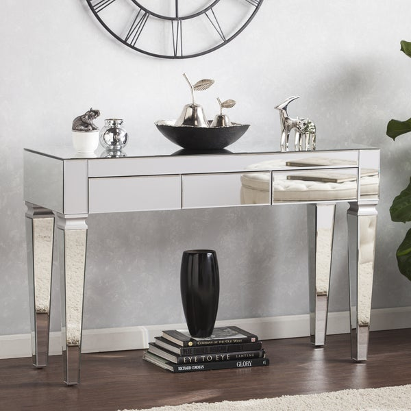 Shop Silver Orchid Olivia Contemporary Mirrored Console