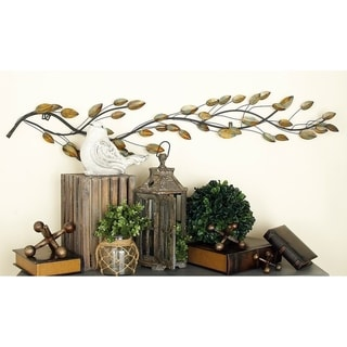 Link to Copper Grove Kitty 61-inch Metal Leaf Wall Decor Similar Items in Wall Sculptures