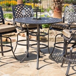 Havenside Home South Ponto Round Bar Table - N/A