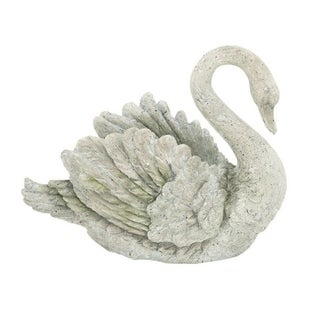 The Gray Barn Jartop Grey Polystone Swan Vase