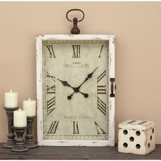 The Gray Barn Jartop Antique Off-white Table Clock