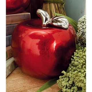 Link to Copper Grove Kitty Red Ceramic Pear and Apple (Set of 2) Similar Items in Gourmet Food Baskets