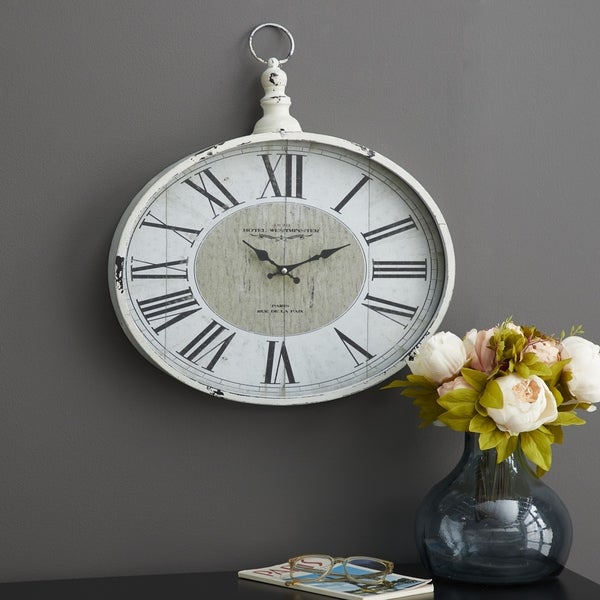 The Gray Barn Jartop Metal 16-inch x 18-inch Wall Clock