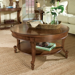 Gracewood Hollow Dones Traditional Cinnamon Round Coffee Table