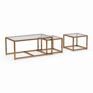 Silver Orchid Grant Nesting Coffee/ End Table 3-piece Set