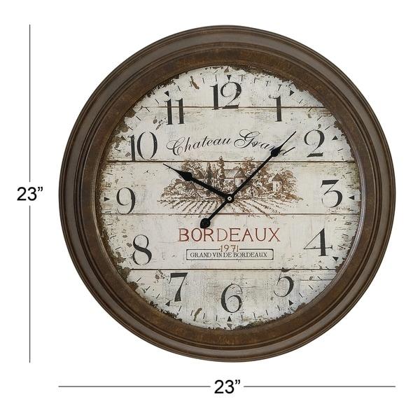 The Gray Barn Jartop Bordeau x Metal Wall Clock