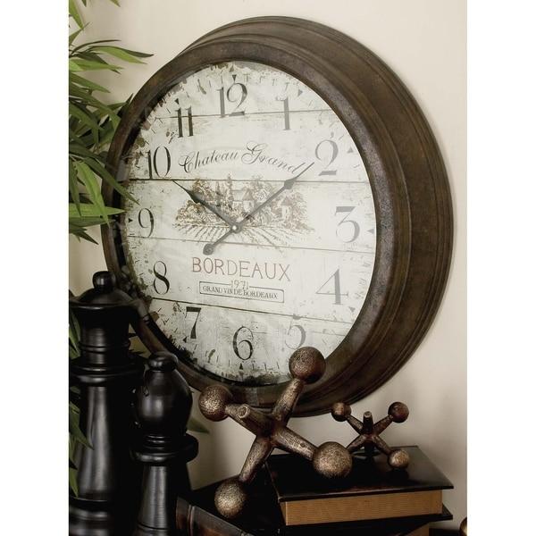 The Gray Barn Jartop Bordeau x Metal Wall Clock. Opens flyout.