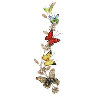 Copper Grove Kitty Metal Butterfly Wall Decoration
