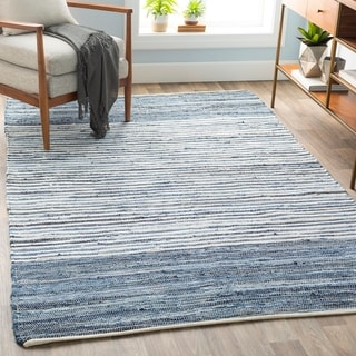 "Hand-loomed Stripe Cotton Area Rug - 3'6"" x 5'6"""