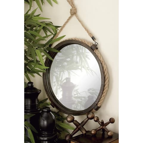 The Gray Barn Jartop Braided Rope Mirrors (Set of 2) - Brown