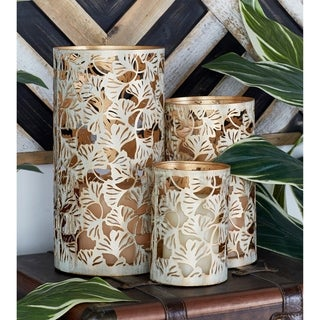 Copper Grove Kitty Contemporary Styled Metal Candle Holder (Set of 3)