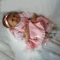 Girls Smile Realistic Lifelike Reborn Newborn Baby Doll Birthday Present