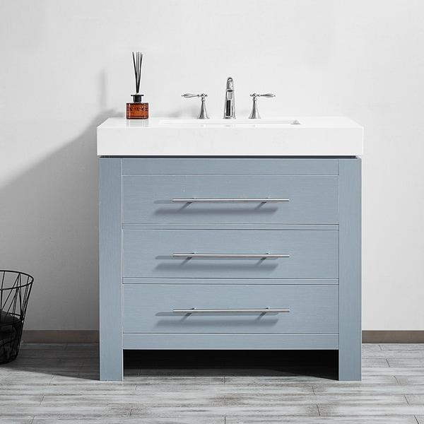 Shop Essex 36 Quot Single Vanity In Elegant Grey With Ascot
