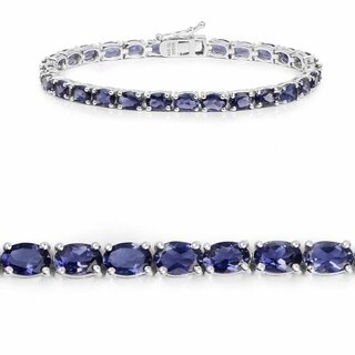 11.89 Carat Genuine Iolite .925 Sterling Silver Bracelet