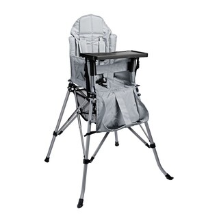 One2Stay Comfort Portable Baby High Chair with Dining Tray - Silver Grey