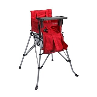One2Stay 2.0 Portable Baby High Chair with Dining Tray - Red