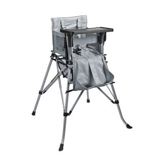 One2Stay 2.0 Portable Baby High Chair with Dining Tray - Silver Grey