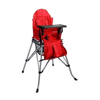 One2Stay Comfort Portable Baby High Chair with Dining Tray - Red