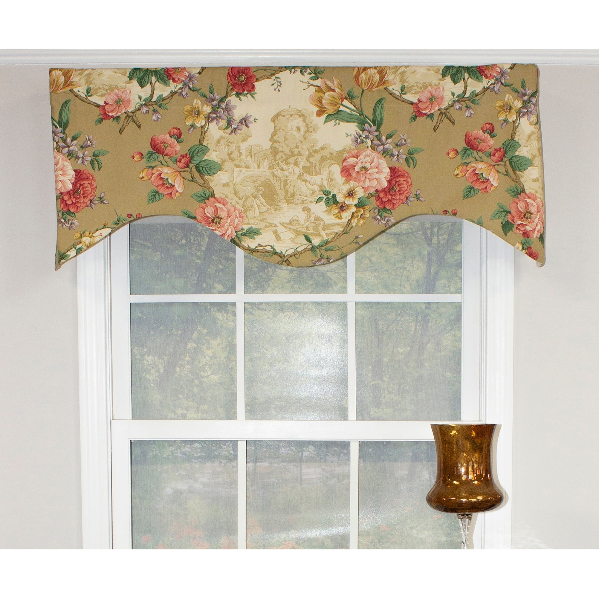 Rlf Home Antique Toile 50 Window Valance Overstock 22698053