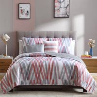 Bixby 4 Piece Printed Quilt Set
