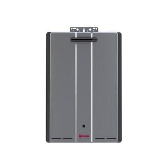 Rinnai Tankless Water Heater (Ext CTWH 180k Btu 10gpm max w/Valve) RU180eN Silver