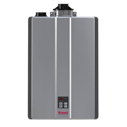 Rinnai Tankless Water Heater (Int CTWH 199k Btu 11gpm max pump valve) RUR199iN Silver