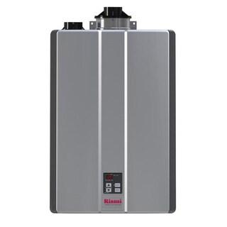 Rinnai Tankless Water Heater (Int CTWH 199k Btu 11gpm max pump valve) RUR199iP Silver