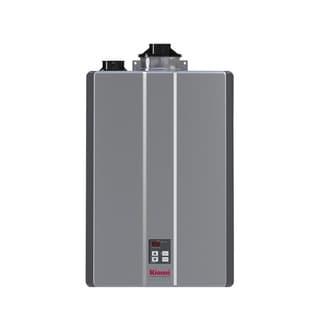 Rinnai Tankless Water Heater (Int CTWH 180k Btu 10gpm max w/Valve) RU180iN Silver