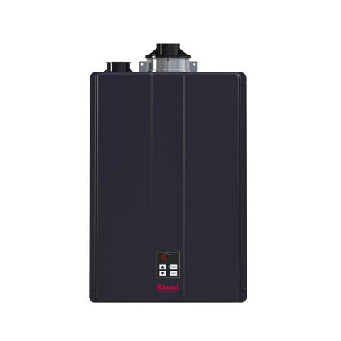 Rinnai Hybrid and Tankless Solution (Int Com CTWH 199k Btu 11gpm max w/Valve) CU199iN Charcoal