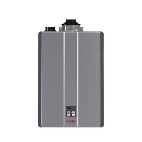 Rinnai Tankless Water Heater (Int CTWH 199k Btu 11gpm max w/Valve) RU199iN Silver