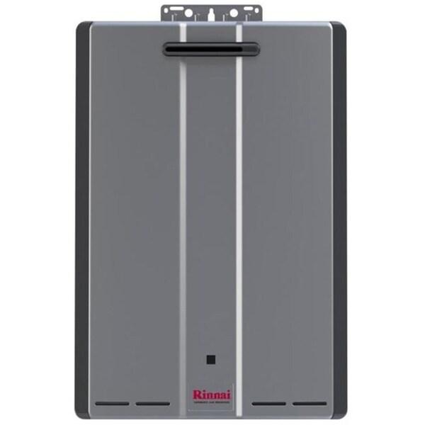 shop rinnai tankless water heater ext ctwh 199k btu 11gpm max w valve ru199en silver free. Black Bedroom Furniture Sets. Home Design Ideas