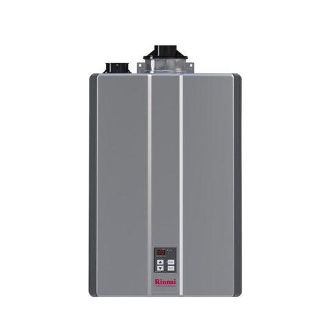 Rinnai Tankless Water Heater (Int CTWH 160k Btu 9gpm max w/Valve) RU160iN Silver