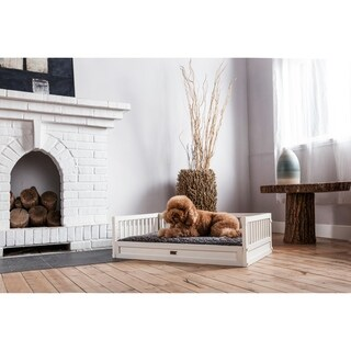 ecoFLEX Dog Bed with Removable Cover - Antique White Medium