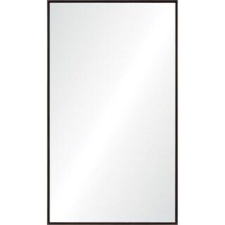 Renwil Aiko Dark Chestnut White Fir Wood Framed Rectangular Mirror