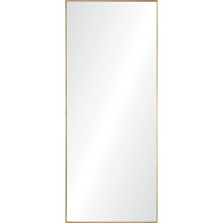 Renwil Gwinett Gold Leaf Iron Framed Rectangular Mirror