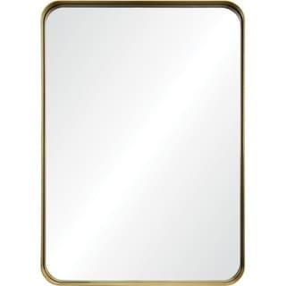 Renwil Camus Rectangular Framed Brushed-gold Antiqued Iron Mirror