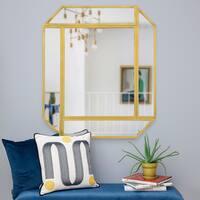 Renwil Kroller Gold Leaf Iron Irregular Framed Mirror