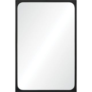 Renwil Carito Black Powder-coated Basswood and Gesso Rectangular Framed Mirror