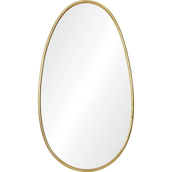 Shop Renwil Roe Irregular Framed Gold Leaf Iron Mirror