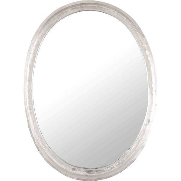 Shop Renwil Lucille Oval Framed Nickel-finished Aluminum Mirror - On ...