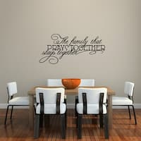 The Family That Prays Together Wall Decal - MEDIUM