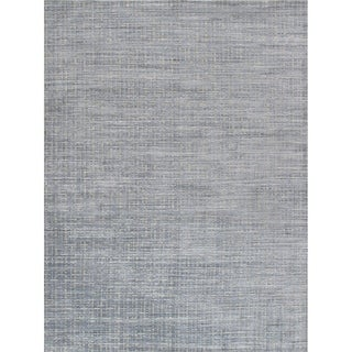 Pasargad Slate Collection Hand-Loomed Bsilk&wool Area Rug - 10' x 14'