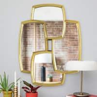 Renwil Angelina Gold Leaf Finish Irregular Framed Mirror