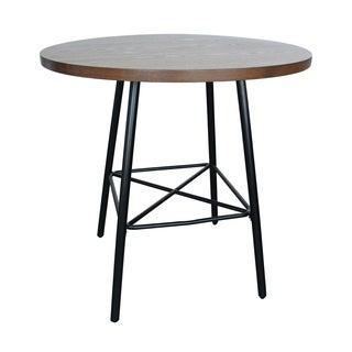 Thatcher Elm/ Black 36-inch Round Bar Table