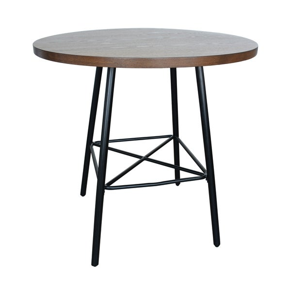 Thatcher Elm Black 36 Inch Round Bar Table On Free Shipping Today 22698288