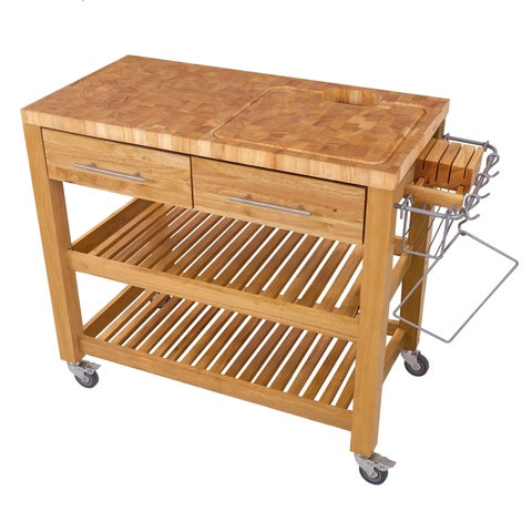 Pro Chef Work Station Natural All Wood