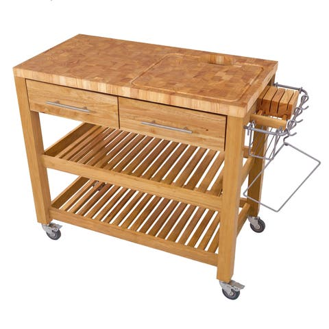 Chris & Chris Pro Chef Natural All Wood Workstation